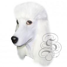 Latex Poodle Dog Mask (White)