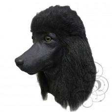 Latex Poodle Dog Mask (Black)