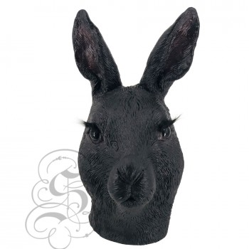 Latex Bunny Mask (Black)