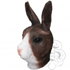 Latex Bunny Mask (Brown / White )