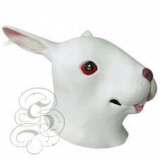 Latex Rabbit Mask (White - Red Eyes)