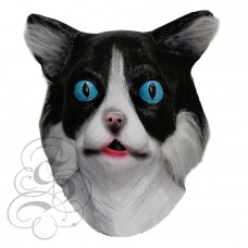 Latex Cat Mask with Fur