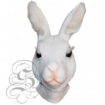 Latex Bunny Mask (White with Lashes)