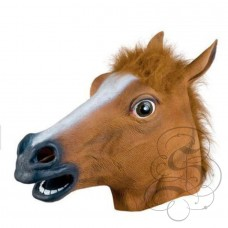 Latex Brown Horse Mask