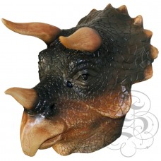 Latex Triceratops Dinosaur Mask