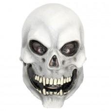 White Skull Head Latex Mask
